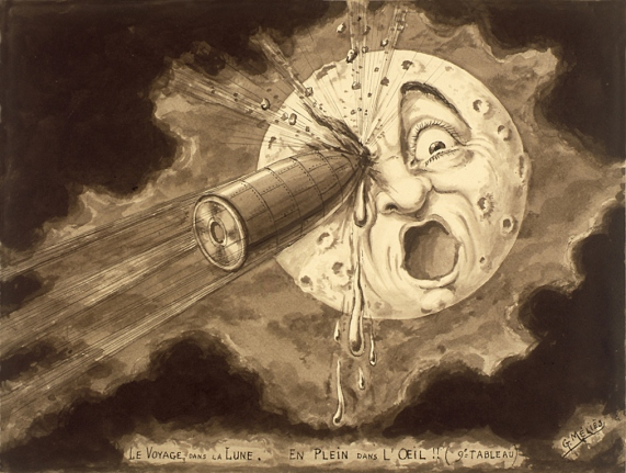 From Jules Verne to the moon...